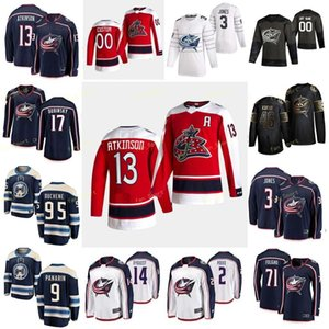 Columbus Blue Vestes 2021 Jersey Retro Retro Gerbe Nathan Harrington Scott Jenner Boone Jones Seth Kivlenieks Matisse Customé