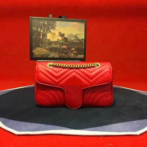 حار الأزياء الحب القلب v موجة نمط حقيبة الكتف حقيبة سلسلة حقائب crossbody محفظة سيدة الجلود الكلاسيكية نمط حمل حقيبة مع حقيبة هدية