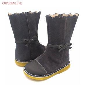 COPODENIEVE кожаных сапог дети босиком обувь девочки высокой bootsX1024