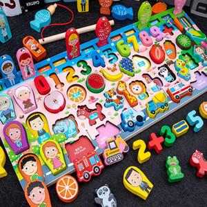 Ahşap logaritma tahtası dijital İngilizce çok fonksiyonlu bilmecenin logaritmik tahta aydınlanma eğitim çocuk oyuncak hediye