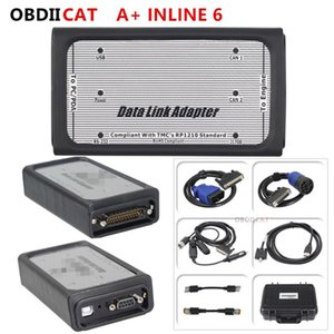 DHL Free A++quality INLINE 6 Data Link Adapter Heavy Duty truck Diagnostic Tool Full 8 cables Truck Diagnostic Interface inline6