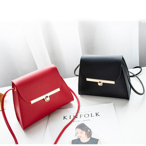 New Women Fashion Small Shoulder Crossbody Sweet Lady Massenger Soft PU Leather Bag Handbag