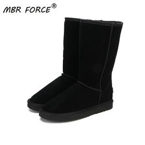 Stivali inverno della neve delle donne Scarpe c1023 del cuoio genuino modo delle donne del MBR FORZA alta qualità Snow Boots Classic in Australia Donne