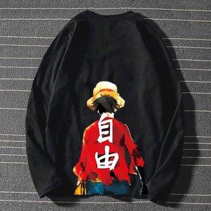 GE Fan You Chao бренд мультфильм пират с длинным рукавом король футболка для мужчин женщин корейская версия модный и универсальный