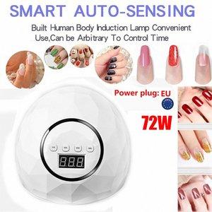 72W UVLamp светодиодные лампы для ногтей Nail Сушилка для кнопки Лечить Гель лак Sun Light Маникюр машина Таймер Датчик Art ToolsG704 b37k #