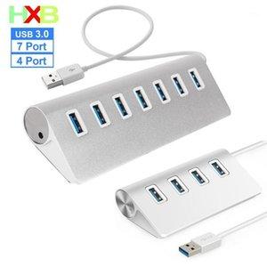 3.0 USB HUB multi Port 4 and 7Aluminum USB 3.0 HUB 5Gbps High Speed Power Adapter For PC Laptop Mac NEW1