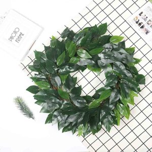 Artificial Green Plant Wreath Eucalyptus Leaves Wreath Wall Window Door Hanging Home Wedding Party Decoration L618