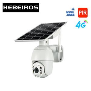 Hebeiros 4G SIM بطاقة WIFI البطارية الشمسية PTZ كاميرا 1080P في الهواء الطلق شرطة التدخل السريع للماء إنذار كشف الحركة P2P CCTV CAMERA