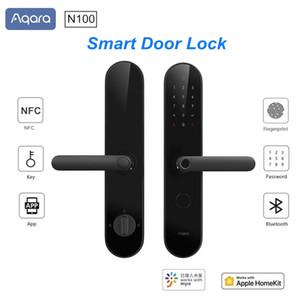 Aqara N100 Smart Door Lock Fingerprint Bluetooth Password Unlock Works With Mijia Apple HomeKit Smart Linkage With Doorbell 201013