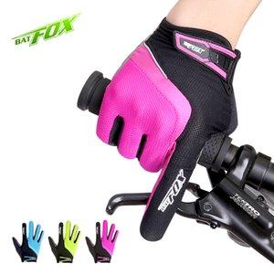 bicicleta BATFOX bicicleta lavável respirável Homens Mulheres Sports montanha MTB Ciclismo Luvas longo dedo luvas Ciclismo