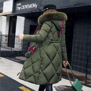 Yeni Stil Süper Uzun Down Jacket Peluş şapka yüksek kaliteli kabarcık ceket Rhombus Kadın Uzunluğu diz boyu Gelişmiş Kumaş kış ceket womens