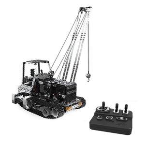 2.4G 10CH مجنزرة تفريغ شاحنة رافعة شوكية DIY الفولاذ المقاوم للصدأ تجميعها مركبات المعادن RC سيارة نموذج لBirthdaty هدايا