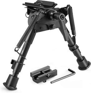 Montaj Adaptörü ile Twod Tüfek bipod 6-9 İnç Ayarlanabilir Bahar İade Picatinny Döner-Stud Sniper Av bipod