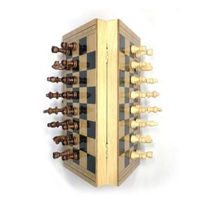 Ensemble d'échecs pliants en bois magnétiques avec intérieur de jeu de jeux feutrés pour rangement pour enfants adulte enfants débutant grande carte d'échecs