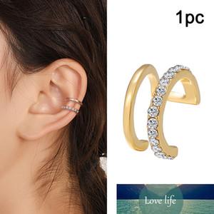 Trendy U Shape Cross Earrings Ear Climber Crystal Earrings for Women Jewelry Boho No-Piercing Geometric Ear Cuff Brincos Gifts