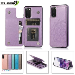Caso de couro para Samsung Galaxy S20 FE S10 S9 S8 Nota 8 9 10 20 Plus Ultra S7 Borda cartão magnético Wallet Titular do telefone Bags Capa