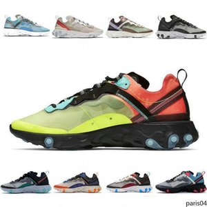2020 new Element 87 Running Shoes Mens SAIL Hyper Pink Bred Medium Olive Solar Red ROYAL TINT Runner 87S Womens Sports 7-11 p04