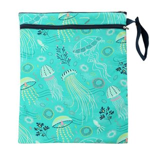 Baby Infant Diaper Bag Organizer Double Zippered Convenient Polyester Portable Hanging Daily Printed Waterproof Reusable