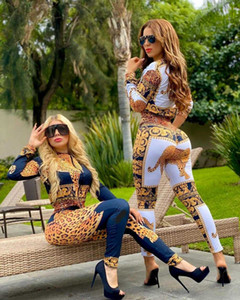 Fashion Women's Suit with Hot Sale Digital gold Printing America casual Style Two Pieces Suit Tracksuit Women Winter Outfits Women Clothing