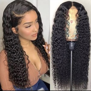 Top Quality Brasileira Molhado e Ondulado Human Human Wigs Brazilian Water Wave Lace Front Wigs Glueless Cheio Lace Wigs Branqueado Nós