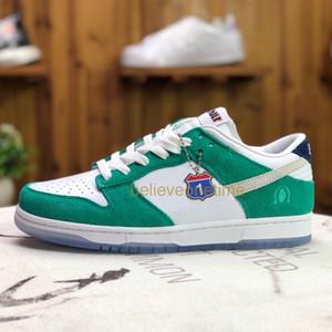أصيلة الجودة دونك SB منخفضة Kasina طريق تسجيل نبتون الخضراء 2020 CZ6501-101 الرجال النساء الاحذية 80S حافلة الصناعية الأزرق الرياضة أحذية رياضية