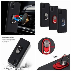 Shockproof Car Holder Case For Samsung M31S A01 Core A21S A70E A81 A91 A51 A71 5G Soft Silicone Magnet Suction 360 Finger Ring Defender