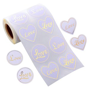 300pcs LOVE Paper Stickers 2.5cm Adhesive Labels Baking Wedding Party Valentine's Day Gift envelope Decoration Sticker