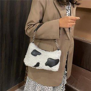 2021 New Milch Cow Stampa Borsa a tracolla Spot Personalità Baguette Fashion Maomao Tote Bag per le donne
