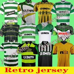 84 86 91 Retro Jersey Celtic Retro Futbol Formaları Ev 95 96 97 98 99 Futbol Gömlek Larsson Sutton Nakamura Keane Black Sutton 05 06 1989