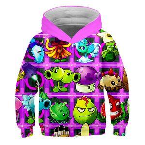 Plants vs. Zombies Hoodies 3D Print The PVZ Sweatshirt Kids Adults Cartoon Pullover Boys Girl Teenagers Streetwear Hip Hop 1006