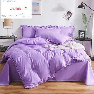 Комплекты постельного белья 2021 Крышка одеяла 3 шт. Кружева хлопка 1 + Pillowcae 2
