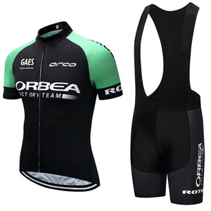High Quality Team Orbea Cycling Jersey Bicycle Short Sleeves Shirt Bib Shorts Suit Men Summer Bike Mtb Clothing Outdoor Sports Wear Y032