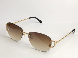 Vintage Güneş Gözlüğü Piccadilly Çerçevesiz Gözlük Yuvarlak Çerçeve Retro Avant-Garde Tasarım UV400 Açık Renk Dekoratif Gözlük 0102