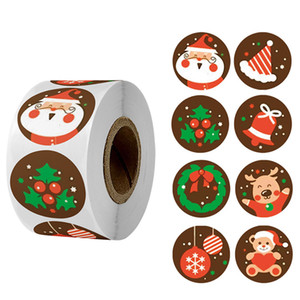 NewBag Tree Elk Candy Merry Sealing Stickers Sticker Christmas 500pcs Gifts Box Labels Decorations New Year