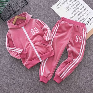 Girls Boys Jogging Clothing Sets Spring Sutumn Children Casual Hoodies+Pants pcs Unisex Tracksuits for Baby Kids Fshion Suit