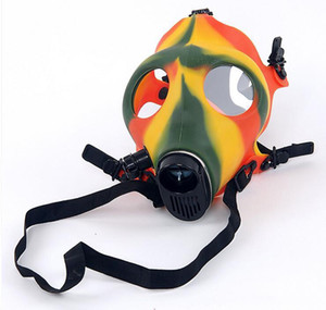 Party Hookah Gas Silicone Mask Bong Mask Tabacco Shisha Pipe 12 colors for Tobacco Smoking Pipe Tools Accessories Acrylic Glass Bongs