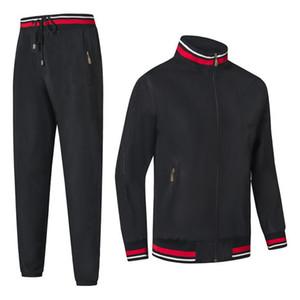 Mens Tracksuit Sport Tracksuit para homens Jogger Stand Colar Principal Moda Moda Outdoor Lazer Suit Loose Inside Net Calças Masculinas