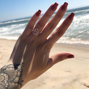 2020 anéis de casamento das mulheres moda anéis de noivado de pedras preciosas para as mulheres jóias simuladas anel de diamante para casamento 314 N2