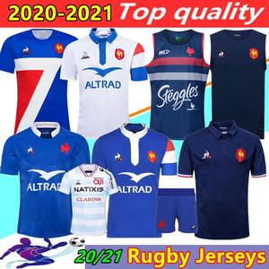 Yeni Stil 2020 2021 Fransa Süper Rugby Formalar Gömlek Tayland Kalite 20/21 Fransa Rugby Maillot De Ayak Fransız Boln Rugby Gömlek Yelek