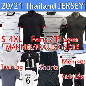 GER 2020 2021 Birçok Fanlar Oyuncu Sürüm Futbol Formaları Eğitim Werner Reus Kimmich Kroos Gnabry Havertz Erkekler Kadınlar Çocuk Kitleri Futbol Gömlek Pantolon