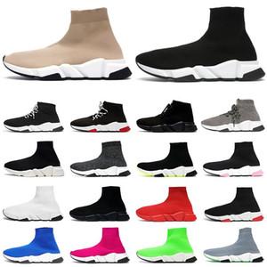 hommes chaussures baskets scarpe sock designer sock shoes جورب أحذية الرجال النساء الثلاثي أسود أبيض Chaussures أزياء رجالي مدرب عداء منصة رياضية