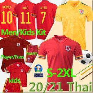 2020 2021 Gales del fútbol de los jerseys Nacional Euro Copa Cymru hogar lejos BALA James Ramsey hombres hijos maillot de camisetas de fútbol Camisetas