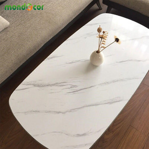 3M Marble Waterproof Vinyl Self adhesive Wallpaper Sticker Modern Contact Paper for Kitchen Cupboard Living Room Wall Stickers 201203