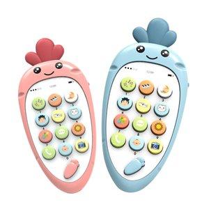 XMY Bebek Elektronik Telefon Oyuncaklar Diş Kaşıyıcı Müzik Erken Çocukluk Eğitici Oyuncaklar Çok fonksiyonlu Simülasyon Telefon Oyuncaklar