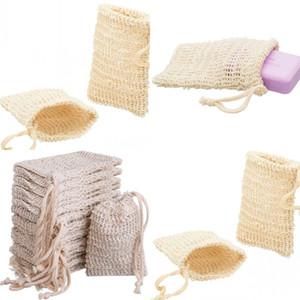 Mesh Soap Bag Natural Exfoliating Soap bag Pouch Holder Soaps Storage Bag Sack Drawstring Holder Bath Toilet Supplies 90 J2