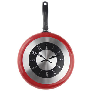 12Inch Wall Clock Modern Design Kitchen Frying Pan Metal Clock Fashion Style Home Decor Big Watch Horloge Murale Wanduhren