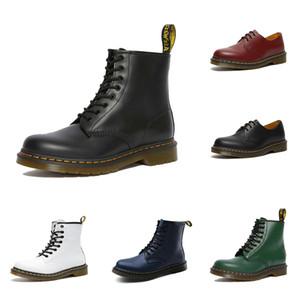 2020 Mode Stiefel Dr. Martin Männer Frauen Schuhe 1460 Schwarz Weiß Kirschrot Grün Marine Leder Plattformen Stiefeletten Größe 36-46