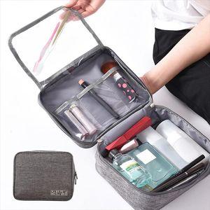 BUCHNIK Fashion Zipper Cosmetic Bag Portable Makeup Case Brush Toiletry Organizer Beauty Wash Pouch Travel Necessary Accessories