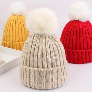 Autumn Winter Warm Baby Hat Beanie Soft Pompom Baby Girl Boy Hat Cap Knitted Kids Bonnet Infant Toddler Children Cap