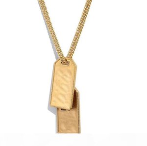 Have stamps Fashion necklace womens mens 14k gold chains Party Lovers gift hip hop jewelry with box